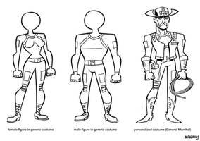 H.O.R.N.E.T. Costumes