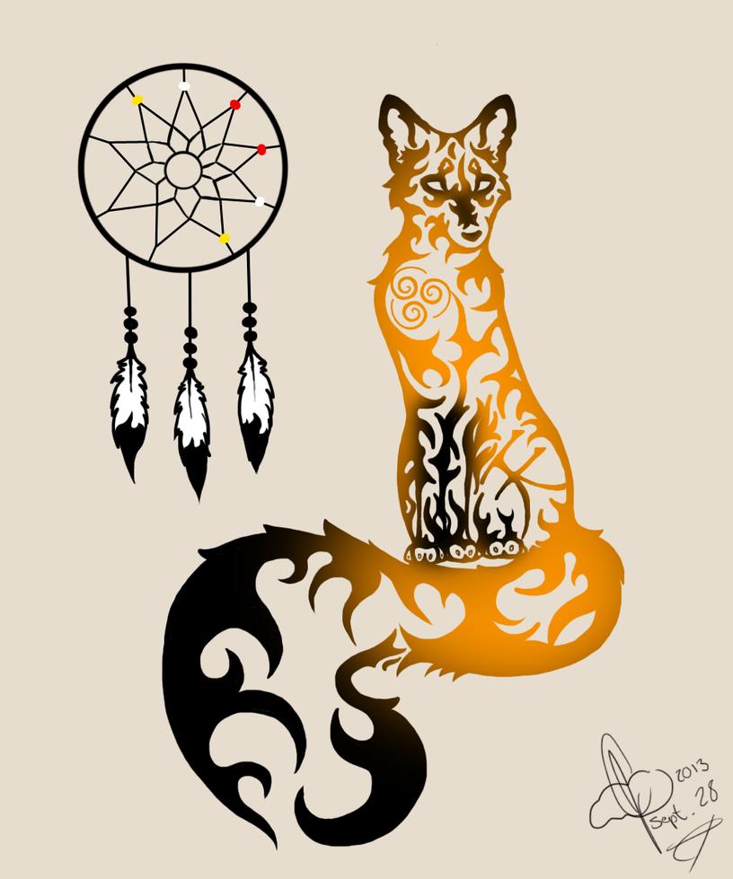 Wallpapers Tribal Animals Animal Tattoo 1024x1024: Tribal Fox Colored By Xxleaftrailxx On DeviantArt