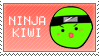 Nina Kiwi Stamp by veggiefriends