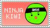 Nina Kiwi Stamp by veggiefriends