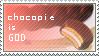Chocopie is GOD stamp by veggiefriends