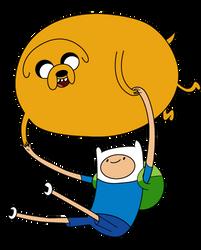 Finn and Jake Balloon Vector by Juliefoo