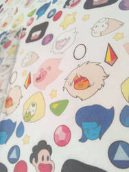 Steven Universe  Printed Fabric by Juliefoo