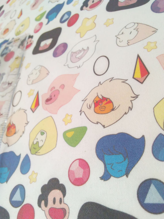 Steven universe printed fabric by juliefoo on deviantart for Universe fabric