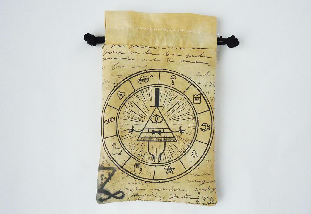 Bill Cipher Gravity Falls Drawstring bag by Juliefoo
