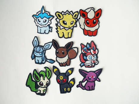 Pokemon Eeveelution Sew On Embroidered Patches