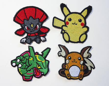 Pokemon Sew On Machine Embroidered Patches