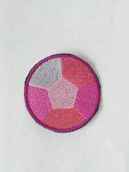Rose quartz Sew On Embroidered Patch Steven