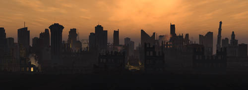 Post Nuclear City by Rhian-Skyblade