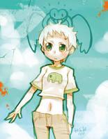 Green sky, Green wall by RyusukeHamamoto