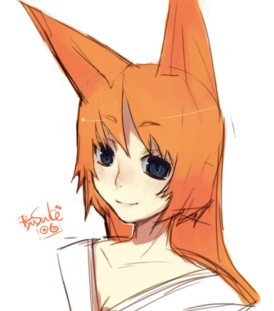 Orange Fox Girl by RyusukeHamamoto