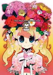 I have many flowers on my head by RyusukeHamamoto