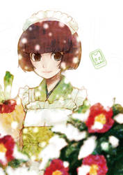 winter maid by RyusukeHamamoto