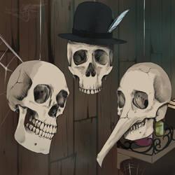 Such dapper skulls by AegeanBifrost