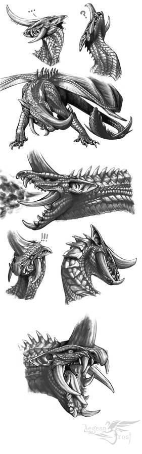 GW2 Venomous Greathorn sketches