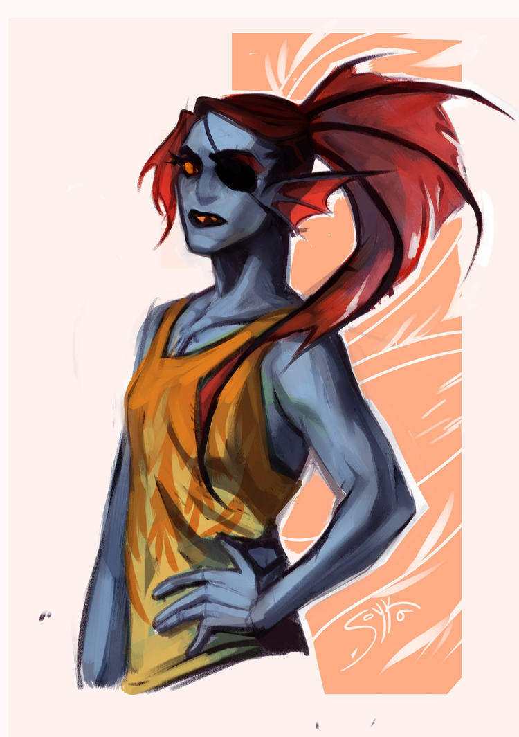 Summer Undyne by Warallin