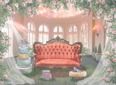 Castle Background for a Sleepy Child Stock
