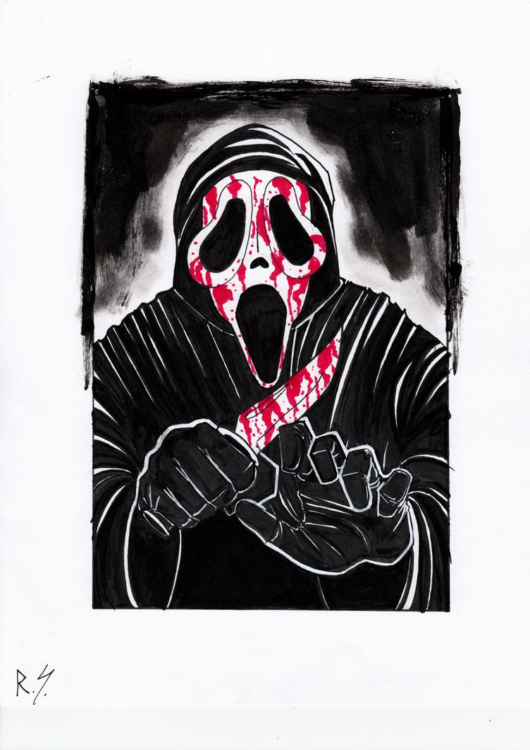 Inktober 2018 #4: Ghostface. by RyanShifflett