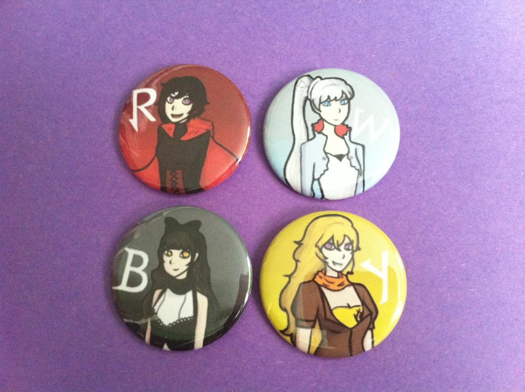 RWBY Buttons by bunnybrawl
