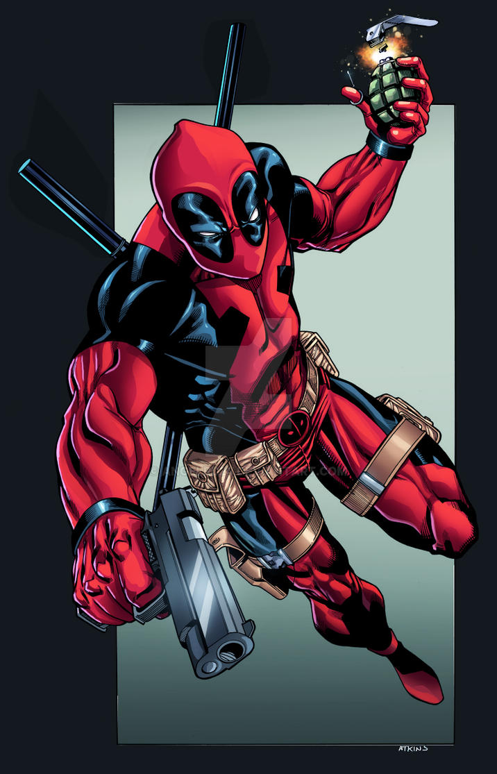 Art Deadpool by Atkins/ Color Angel rd by angelrd24