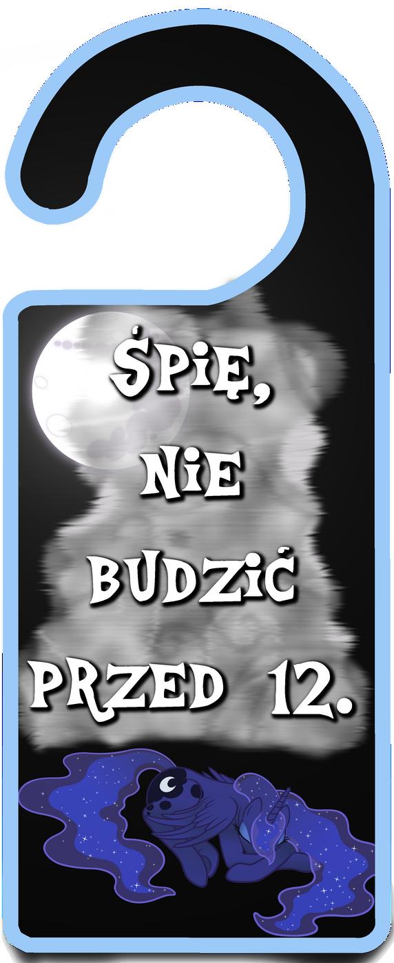Princess Luna 'Nie budzic' - zawieszka by Julunis14