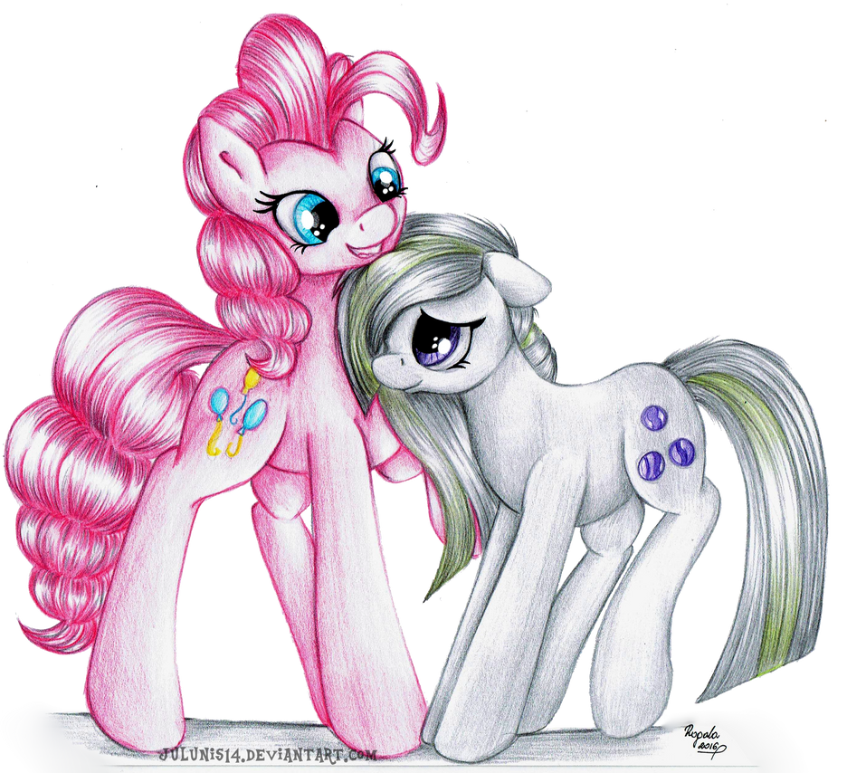 Gift - Pinkie and Marble Pies by Julunis14