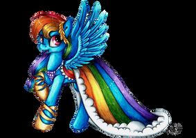 Rainbow Dash in gala dress + SPEEDPAINT by Julunis14