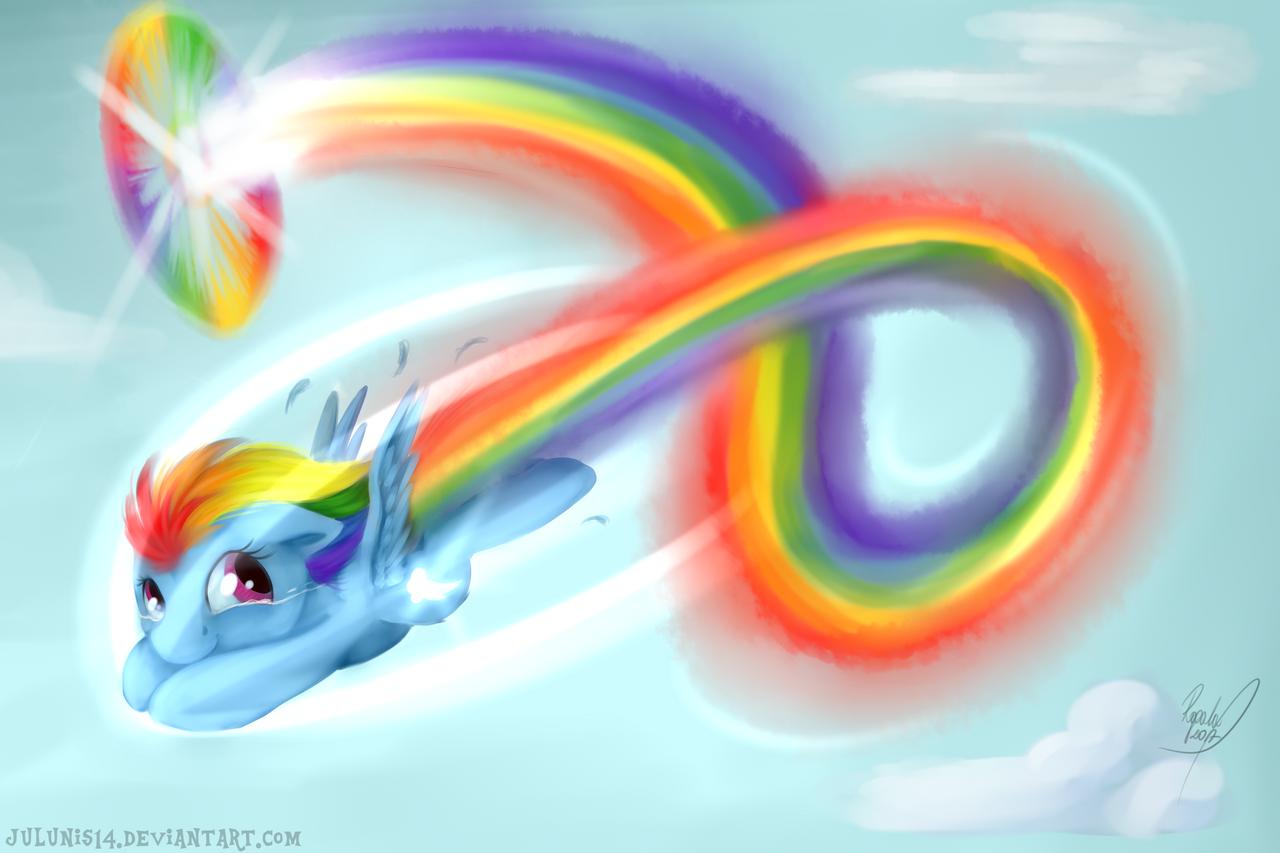 ~First Sonic Rainboom~ by Julunis14