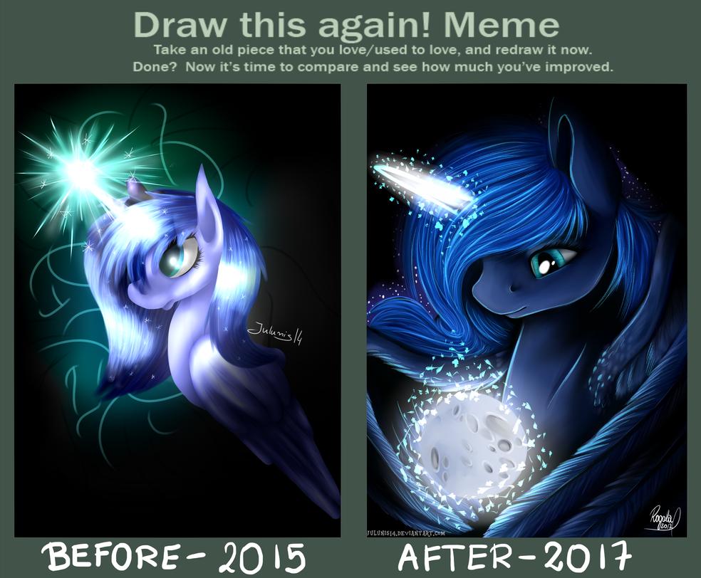 Draw This Meme Again - Luna's Portrait by Julunis14