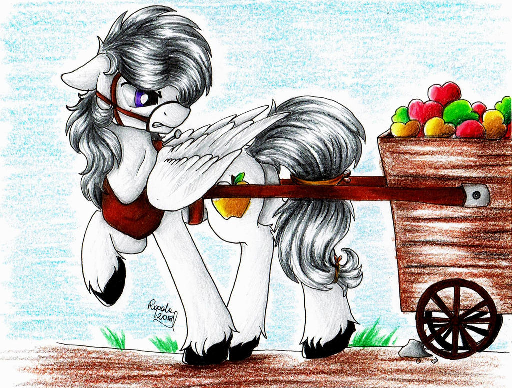 [OC] Altivo with apple-cart by Julunis14
