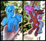 Paper Ponies - Commission pack #1 by Julunis14