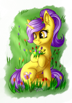 Flowers in the Meadow [Commission] by Julunis14