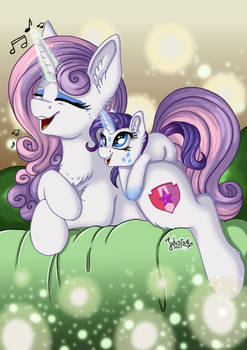 Big-Smol Sisters - Sweetie and Rarity