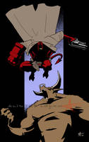 Hellboy by Caveatscoti