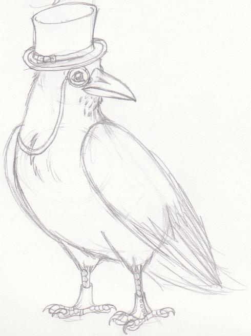 Gentleman Raven by chikajin