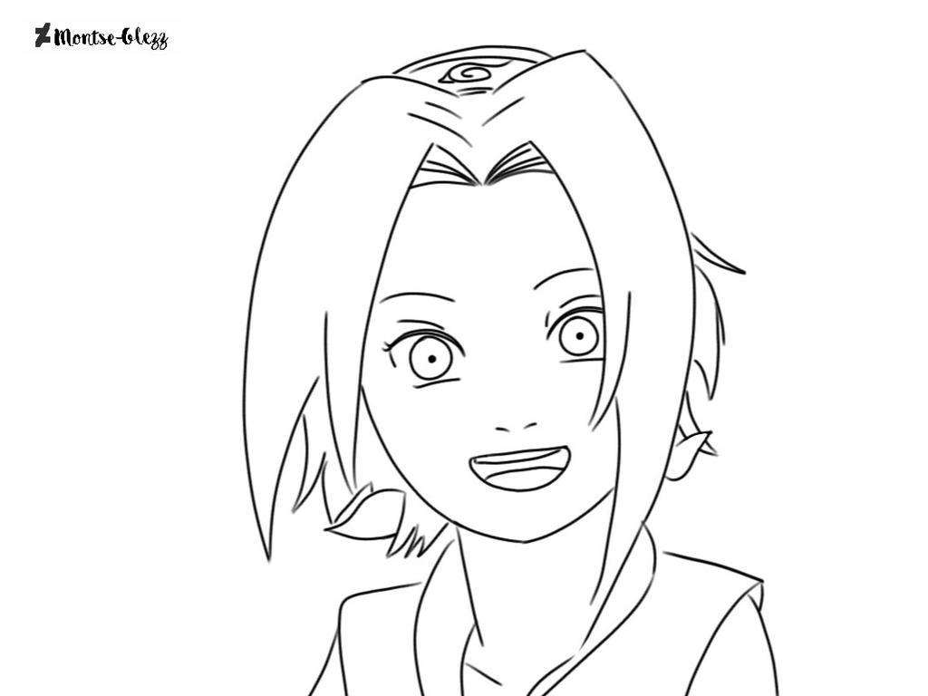 Sakura Dibujo A Lapiz Para Colorear Naruto By Montse Glezz On Deviantart