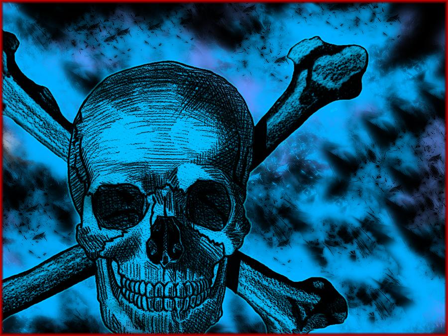 blue wallpaper skull - photo #20