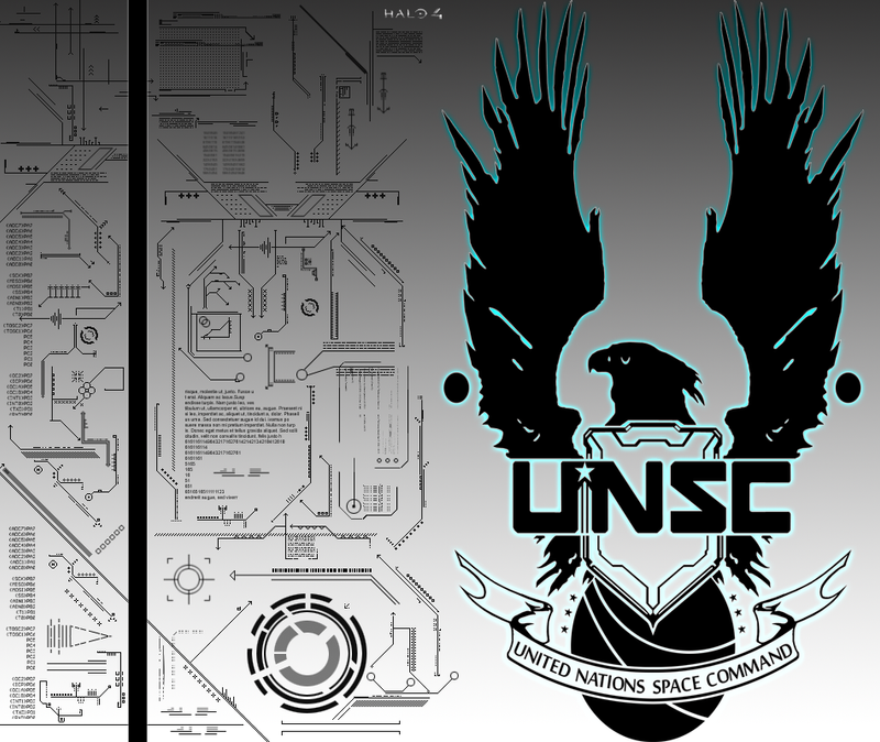 Halo Unsc Symbol Unsc emblem splash by