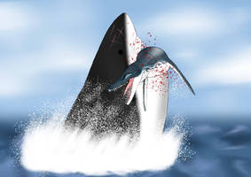 Megalodon: When Hunter Turn To Prey by nature1029