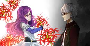 Kaneki and Rize by AriSotnia