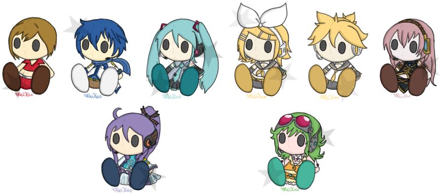 Vocaloid Plushies by x-Luna-chan-x