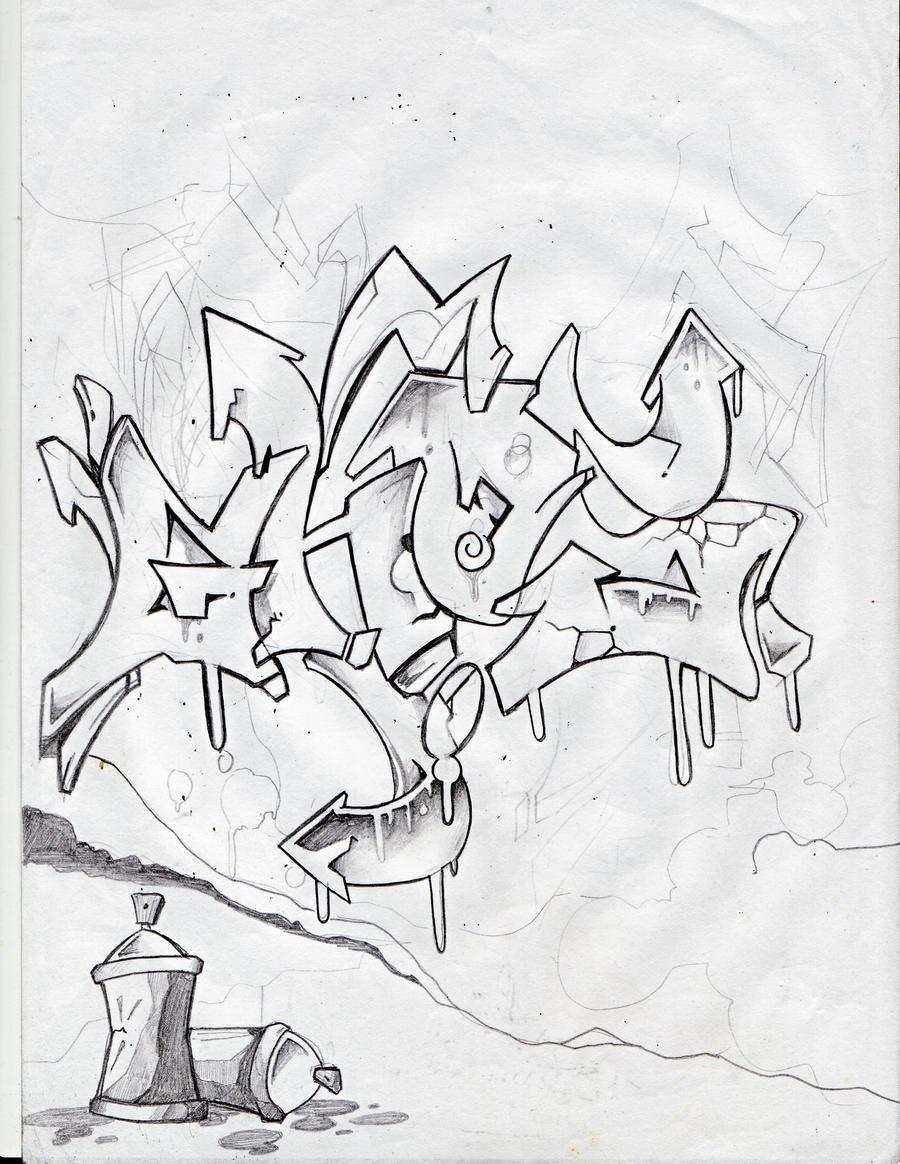 Dibujo de Cerdito graffiti para Colorear