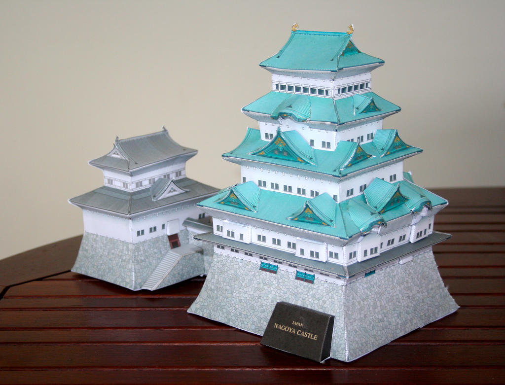 nagoya castle paper craft by leoleolef