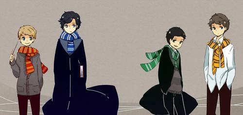 Sherlock in Hogwarts by patatomato