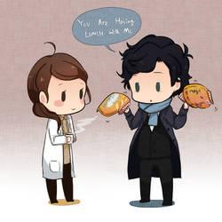 Molly+Sherlock by patatomato