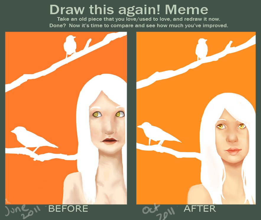 how to draw a bird meme