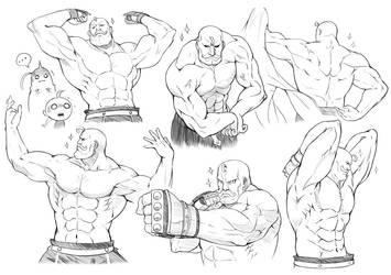 Muscle / Pose Practice with Alex Louis Armstrong by Kazeo-YuuRin