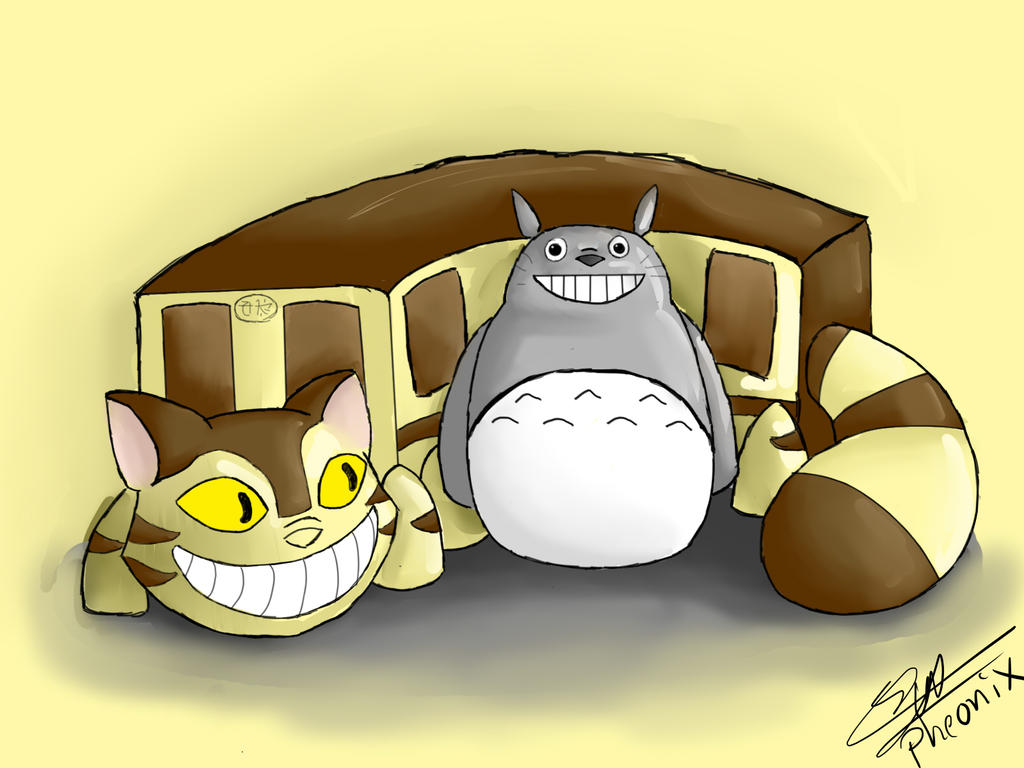 Totoro and CatBus by WFpeonix