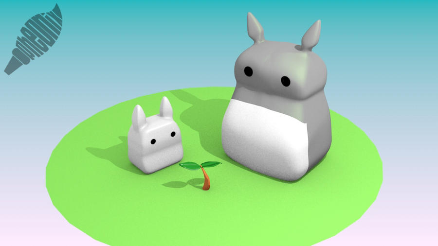 Totoro 3D~ by WFpeonix