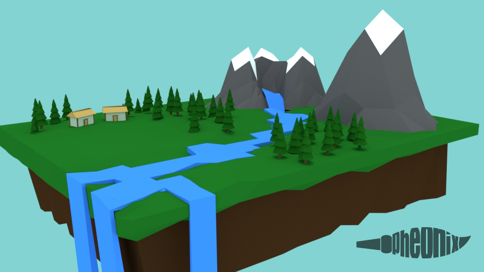 LowPoly Mountain Escene by WFpeonix